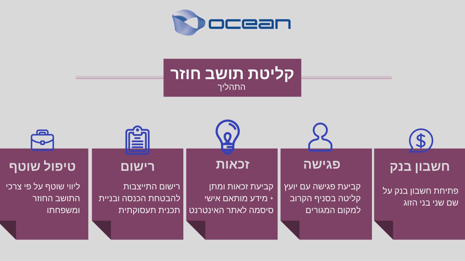קליטת תושב חוזר, תהליך הקליטה ברילוקיישן לישראל ב-ocean relocation